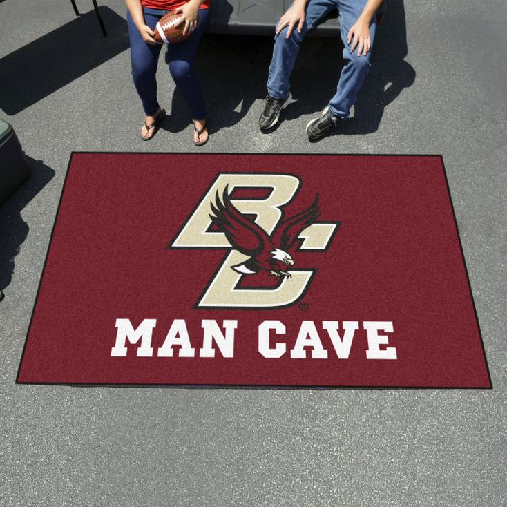 "59.5"" x 94.5"" Boston College Man Cave Maroon Rectangle Ulti Mat"