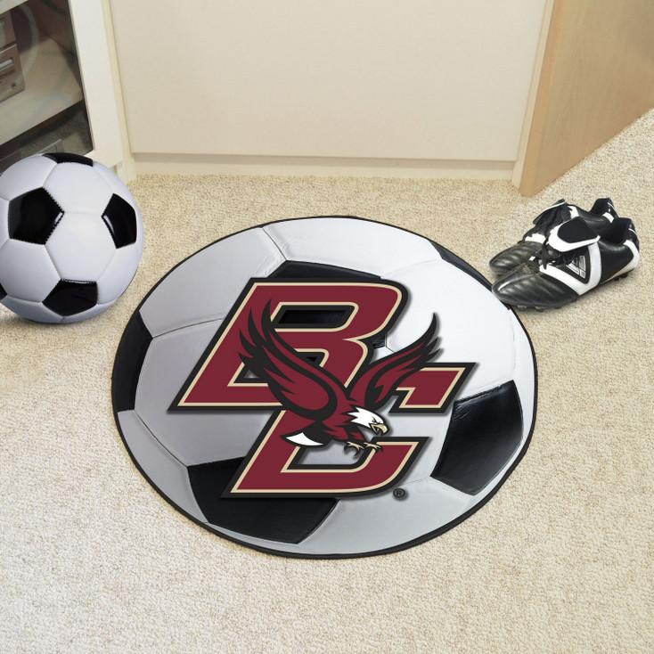 "27"" Boston College Soccer Ball Round Mat"