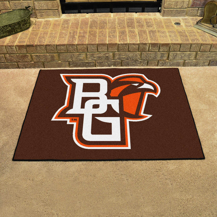 """33.75"""" x 42.5"""" Bowling Green State University All Star Brown Rectangle Mat"""