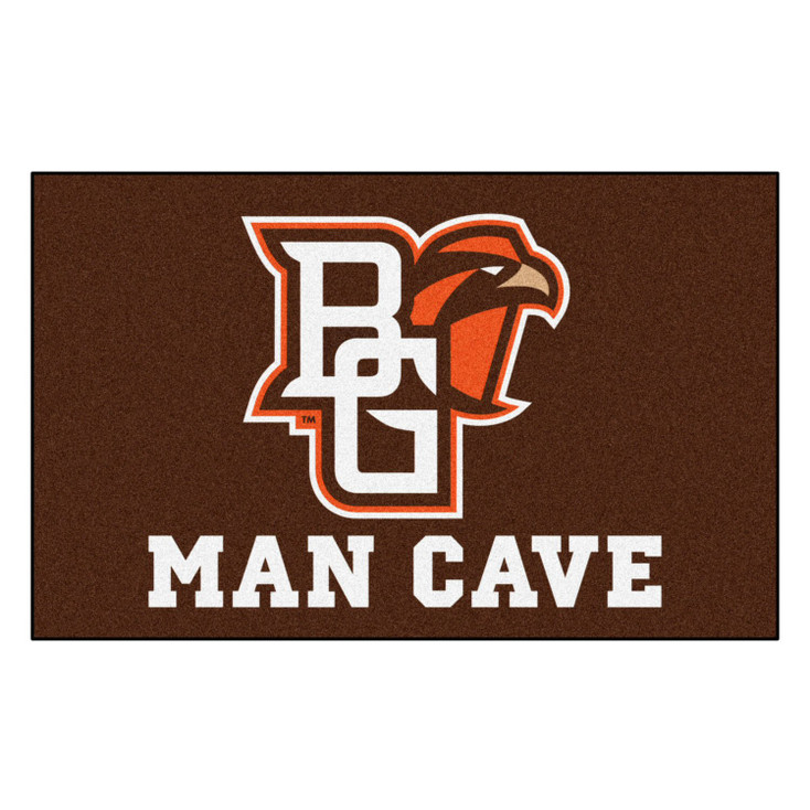 "59.5"" x 94.5"" Bowling Green State University Man Cave Brown Rectangle Ulti Mat"