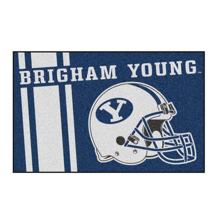 "19"" x 30"" Brigham Young University Uniform Blue Rectangle Starter Mat"