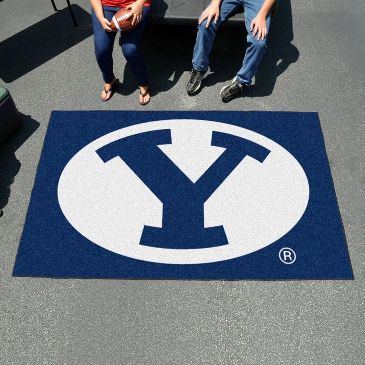 "59.5"" x 94.5"" Brigham Young University Blue Rectangle Ulti Mat"