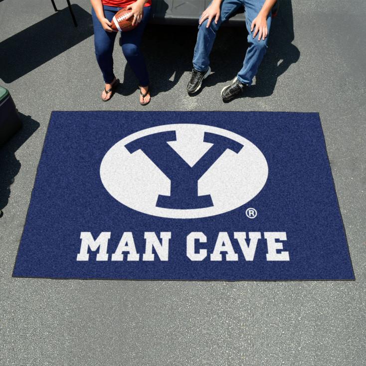 "59.5"" x 94.5"" Brigham Young University Man Cave Blue Rectangle Ulti Mat"