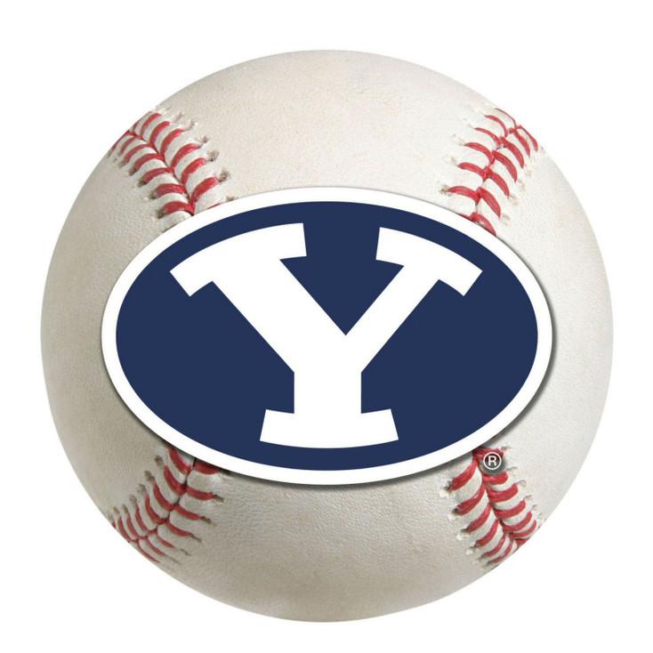 "27"" Brigham Young University Baseball Style Round Mat"