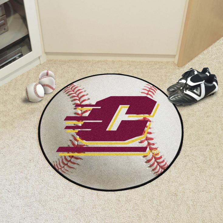 "27"" Central Michigan University Baseball Style Round Mat"