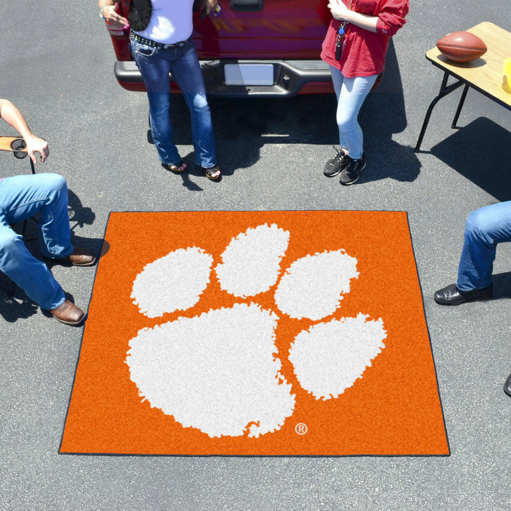 "59.5"" x 71"" Clemson University Orange Tailgater Mat"