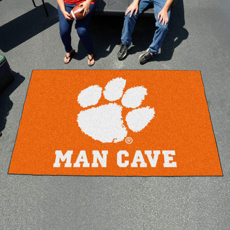 "59.5"" x 94.5"" Clemson University Man Cave Orange Rectangle Ulti Mat"