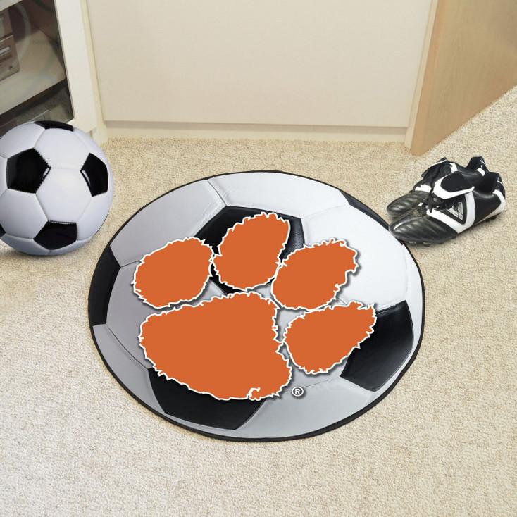 """27"""" Clemson University Soccer Ball Round Mat"""