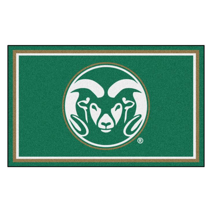 4' x 6' Colorado State University Green Rectangle Rug