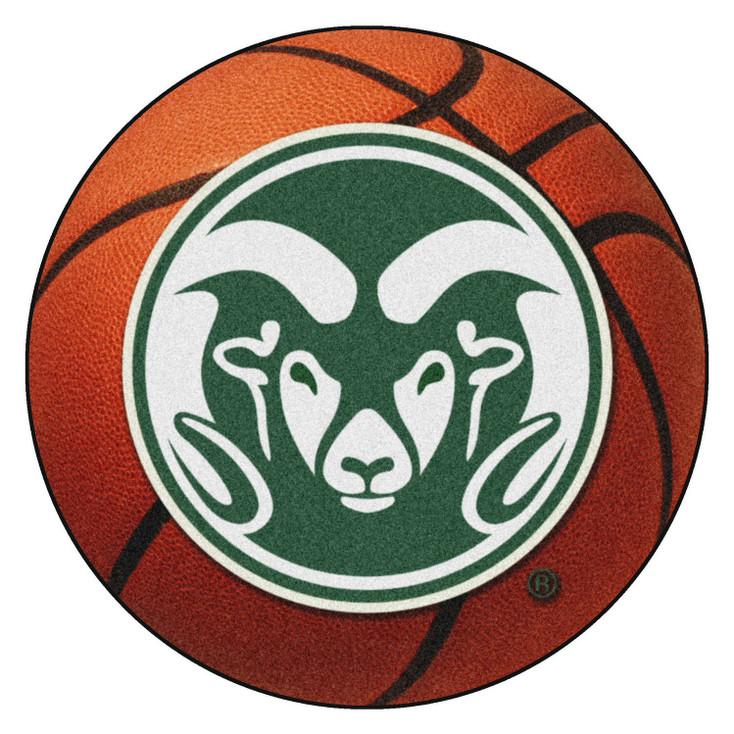 "27"" Colorado State University Orange Basketball Style Round Mat"