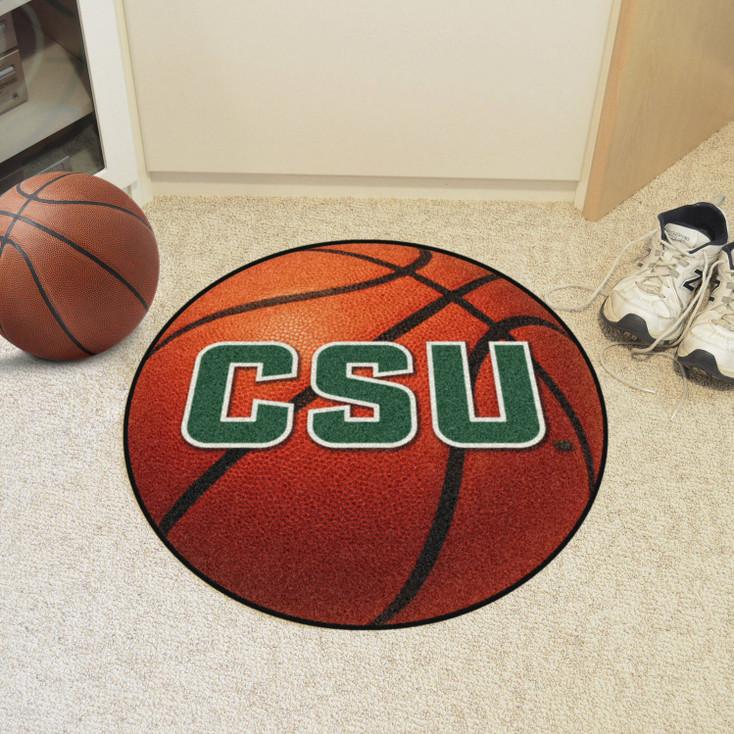 "27"" Colorado State University Rams Orange Basketball Style Round Mat"
