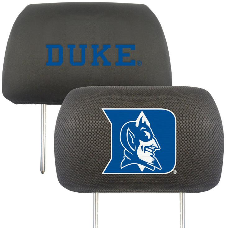 Duke University Car Headrest Cover, Set of 2