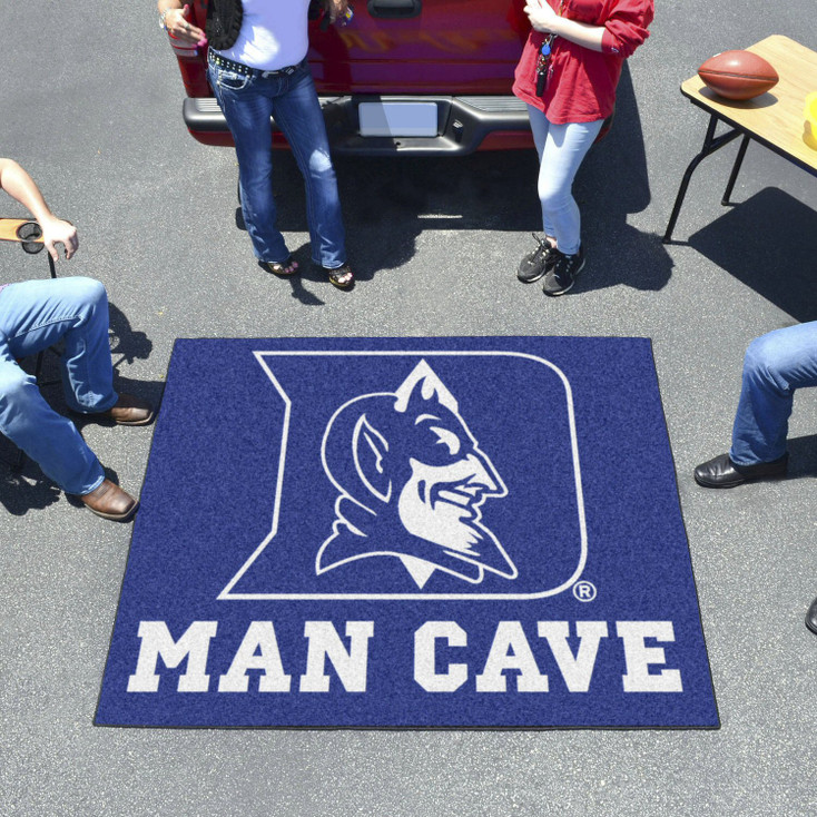 "59.5"" x 71"" Duke University Blue Devils Man Cave Tailgater Rectangle Mat"