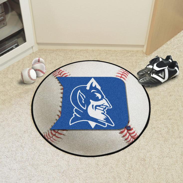"""27"""" Duke University Blue Devils Baseball Style Round Mat"""