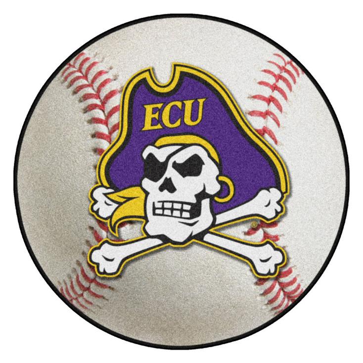 "27"" East Carolina University Baseball Style Round Mat"