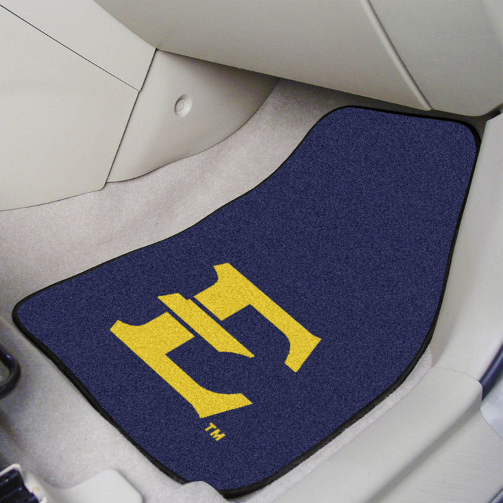 East Tennessee State University Carpet Car Mat, Set of 2