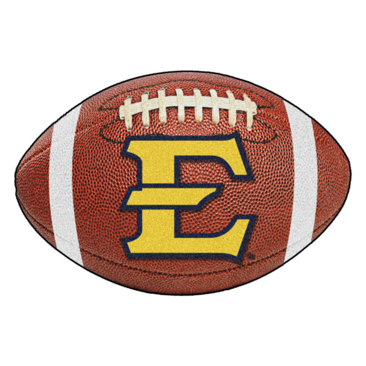 "20.5"" x 32.5"" East Tennessee State University Football Shape Mat"