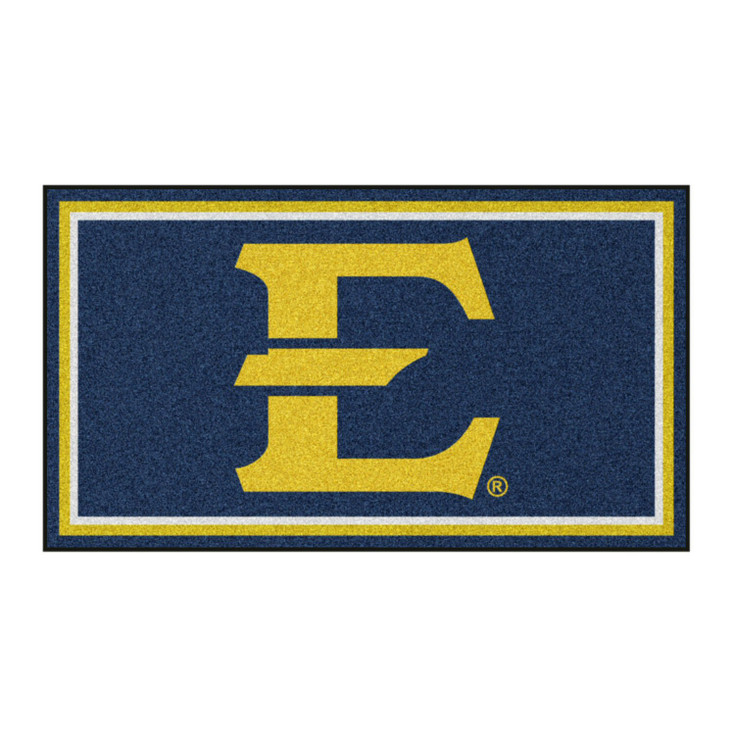 3' x 5' East Tennessee State University Navy Blue Rectangle Rug