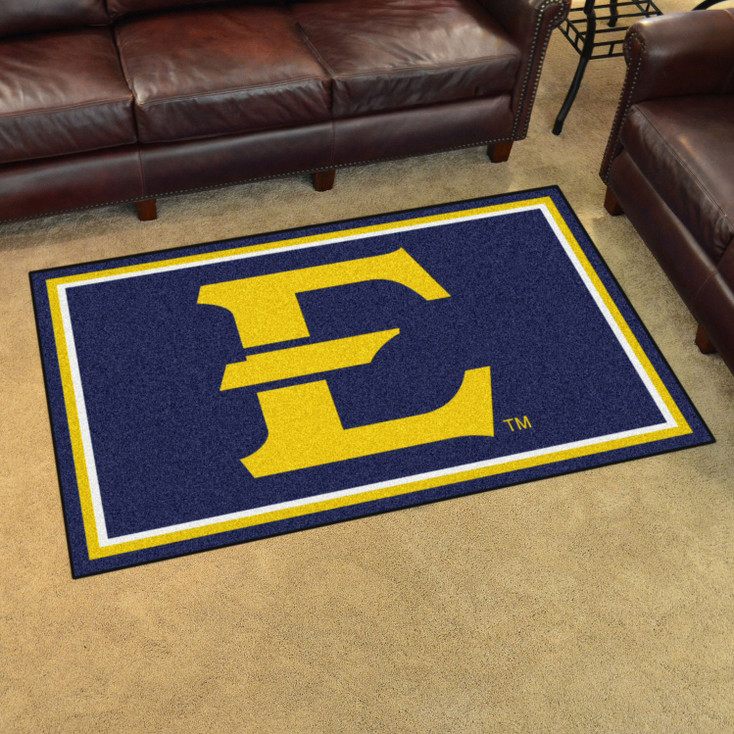4' x 6' East Tennessee State University Navy Blue Rectangle Rug