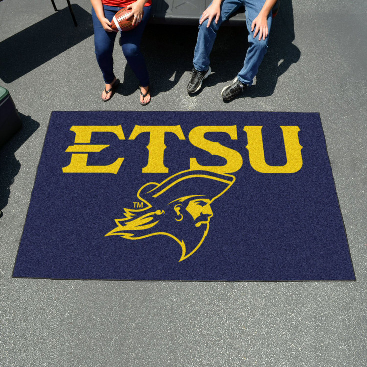 """59.5"""" x 94.5"""" East Tennessee State University Navy Blue Rectangle Ulti Mat"""
