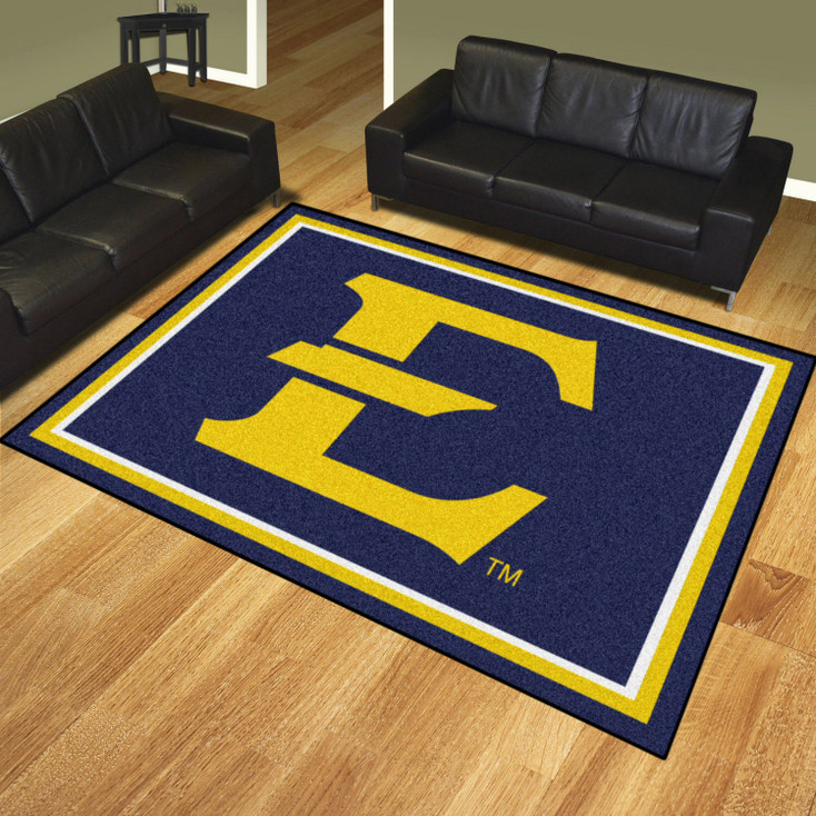 8' x 10' East Tennessee State University Navy Blue Rectangle Rug