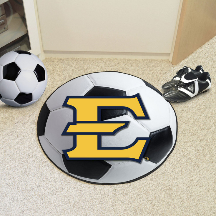 """27"""" East Tennessee State University Soccer Ball Round Mat"""
