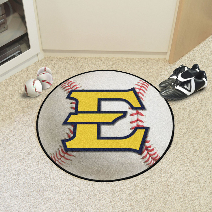 """27"""" East Tennessee State University Baseball Style Round Mat"""