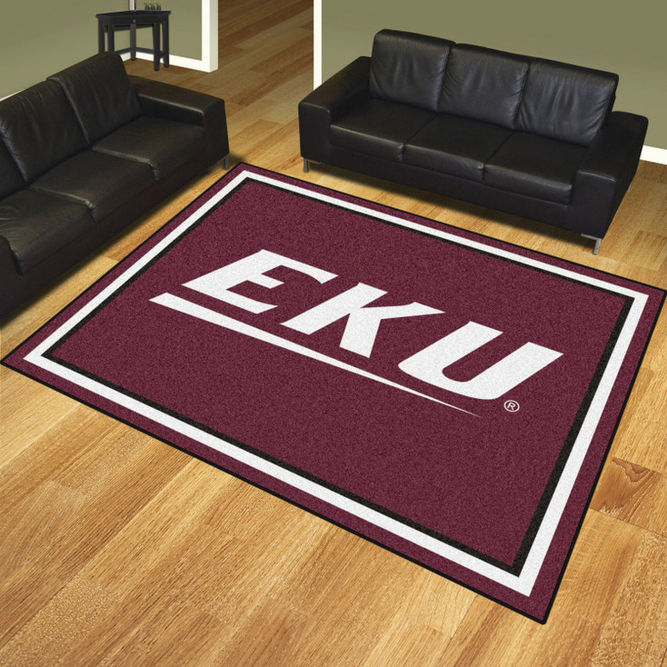 8' x 10' Eastern Kentucky University Maroon Rectangle Rug
