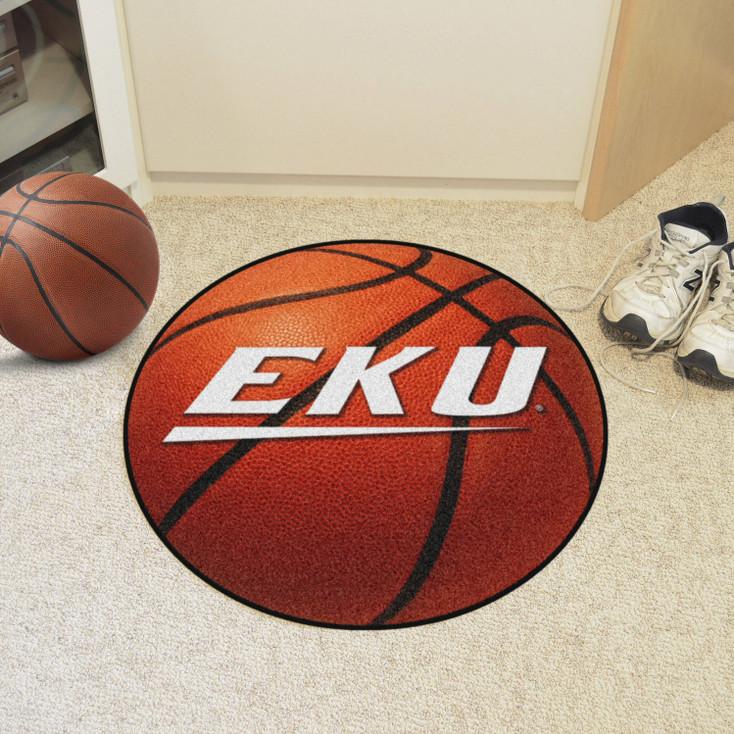 "27"" Eastern Kentucky University Basketball Style Round Mat"
