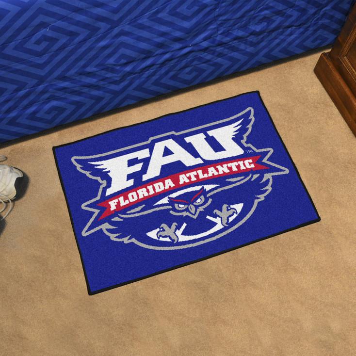 "19"" x 30"" Florida Atlantic University Blue Rectangle Starter Mat"
