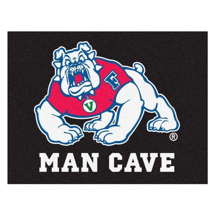 "33.75"" x 42.5"" Fresno State Black Man Cave All-Star Rectangle Mat"