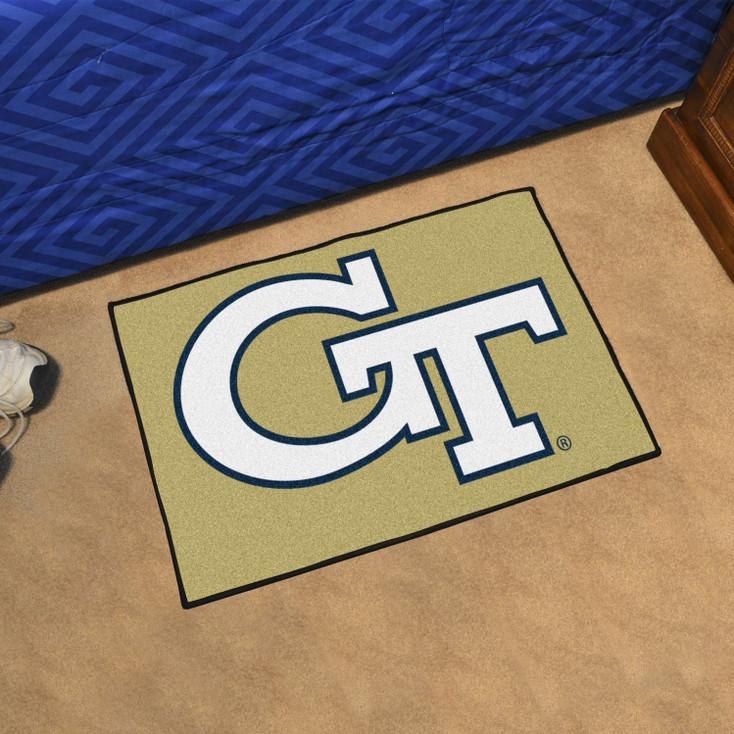 """19"""" x 30"""" Georgia Tech Gold Rectangle Starter Mat"""