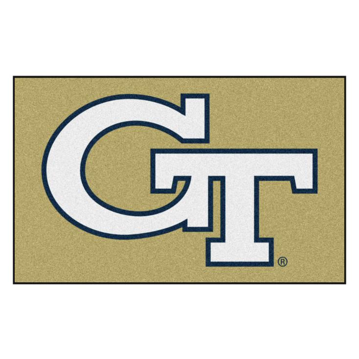 "59.5"" x 94.5"" Georgia Tech Gold Rectangle Ulti Mat"