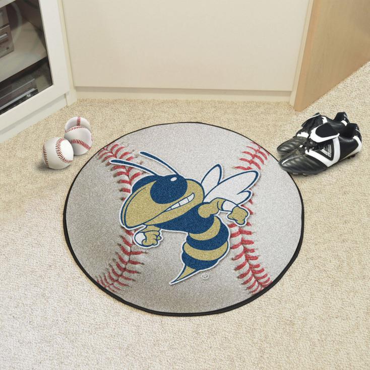 """27"""" Georgia Tech Baseball Style Round Mat"""