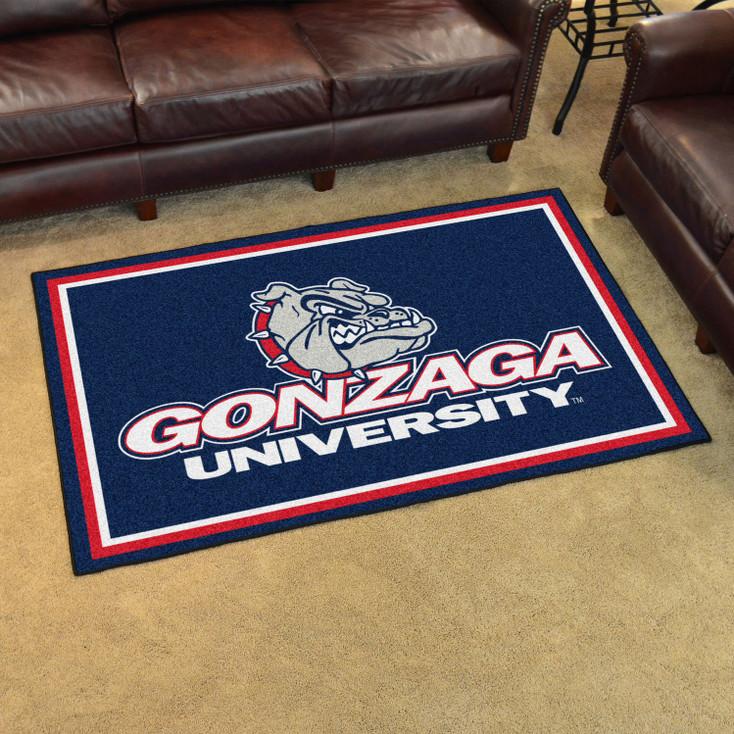 4' x 6' Gonzaga University Blue Rectangle Rug