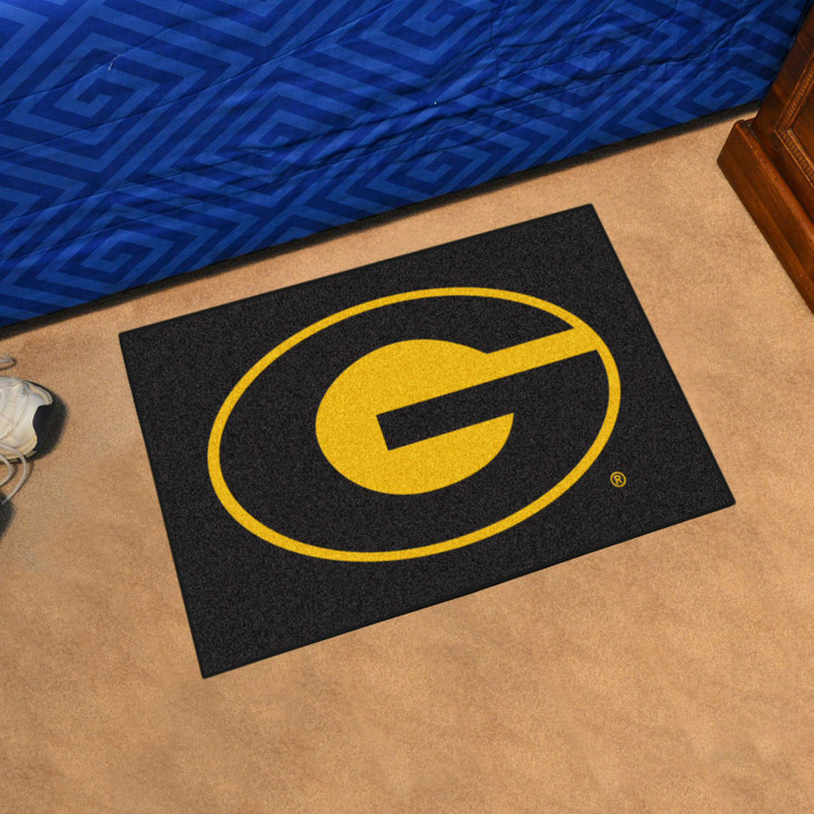 "19"" x 30"" Grambling State University Black Rectangle Starter Mat"