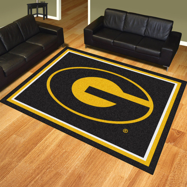 8' x 10' Grambling State University Black Rectangle Rug