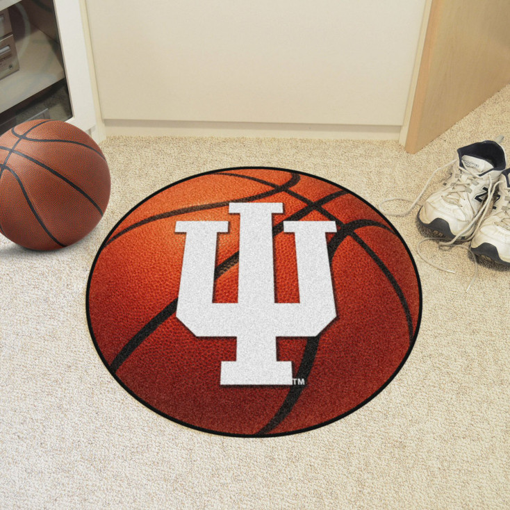"27"" Indiana University Basketball Style Round Mat"