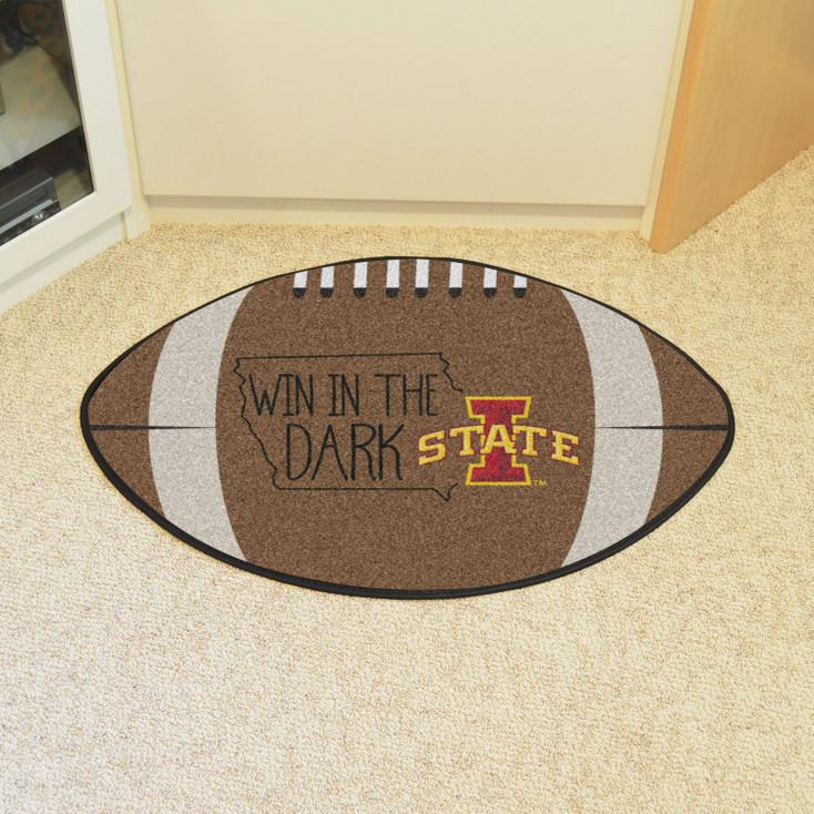 """20.5"""" x 32.5"""" Iowa State University Southern Style Football Shape Mat"""