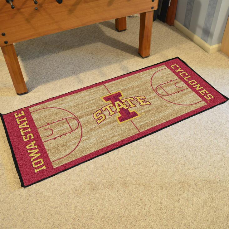 "30"" x 72"" Iowa State University NCAA Basketball Rectangle Runner Mat"