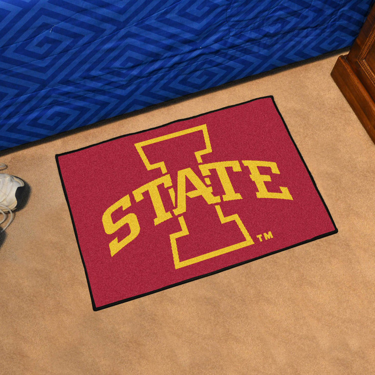 "19"" x 30"" Iowa State University Red Rectangle Starter Mat"