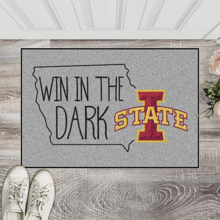 """19"""" x 30"""" Iowa State University Southern Style Gray Rectangle Starter Mat"""