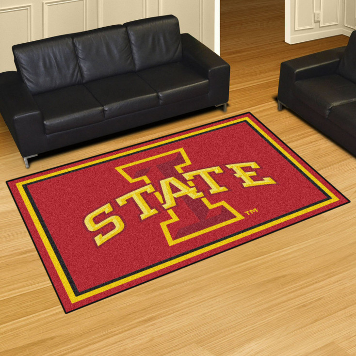 5' x 8' Iowa State University Red Rectangle Rug