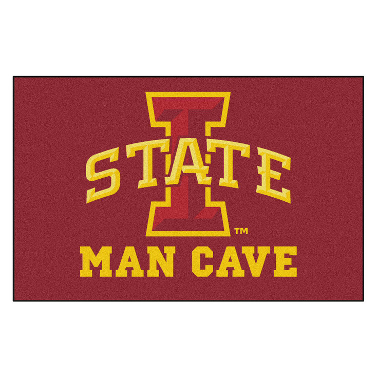"59.5"" x 94.5"" Iowa State University Man Cave Red Rectangle Ulti Mat"