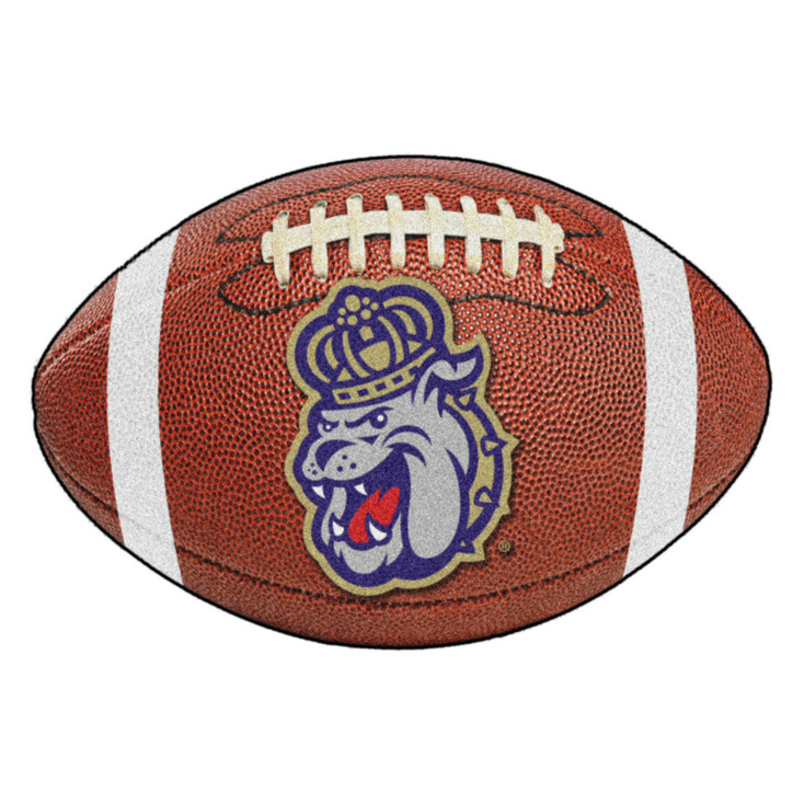 "20.5"" x 32.5"" James Madison University Football Shape Mat"
