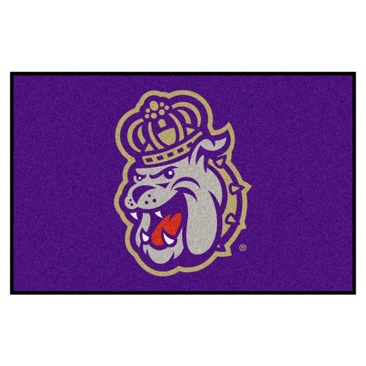 "19"" x 30"" James Madison University Purple Rectangle Starter Mat"