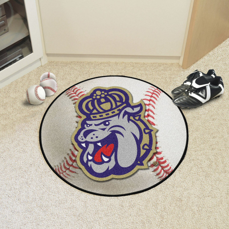 "27"" James Madison University Baseball Style Round Mat"