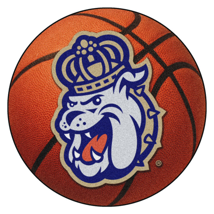 "27"" James Madison University Basketball Style Round Mat"