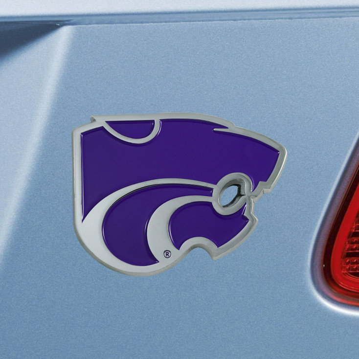 Kansas State University Purple Color Emblem, Set of 2