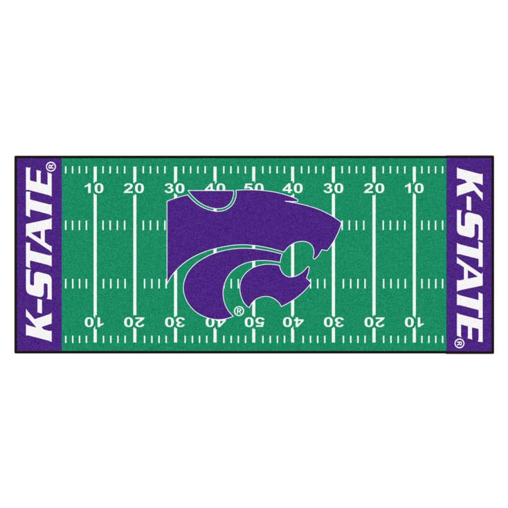 """30"""" x 72"""" Kansas State University Football Field Rectangle Runner Mat"""